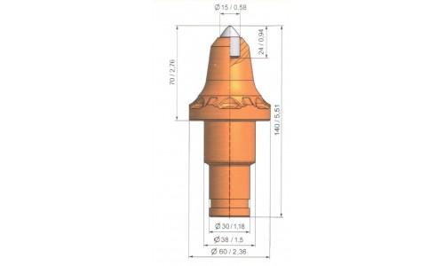 Wysokość części roboczej 70mm