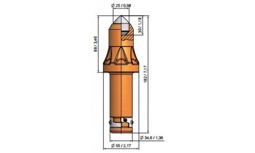 Wysokość części roboczej 89mm