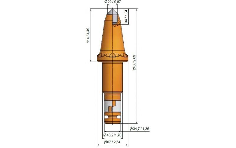 Wysokość części roboczej 114mm