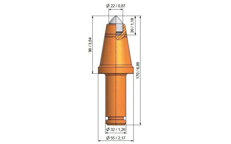 Długość chwytu 67mm